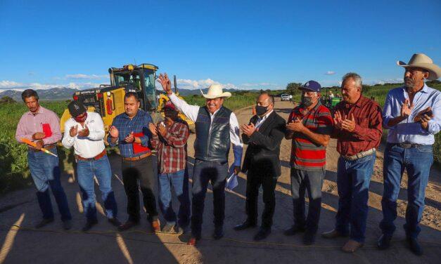 En Buenavista de Trujillo, David Monreal inicia la transformación de las carreteras en Zacatecas