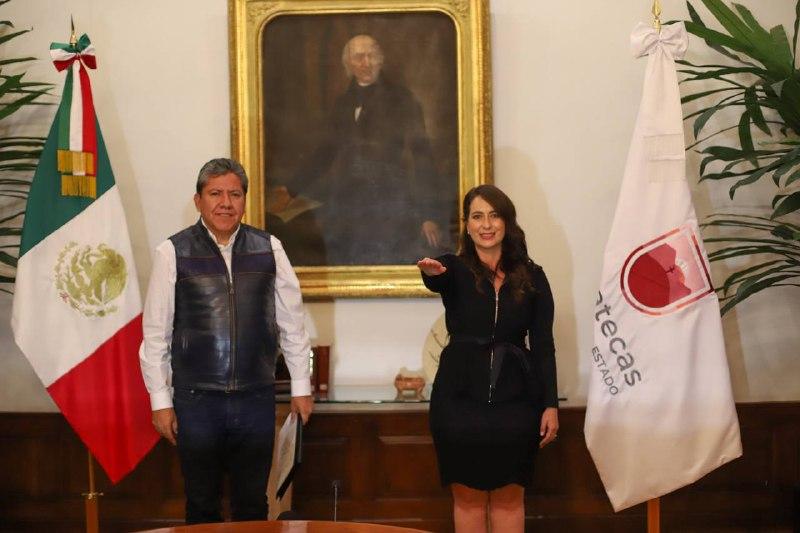 Gobernador David Monreal nombra a parte de su Gabinete